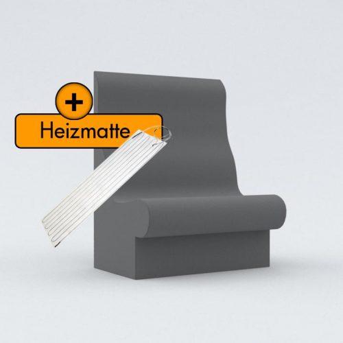 Duschbank-T75 mit Heizmatte
