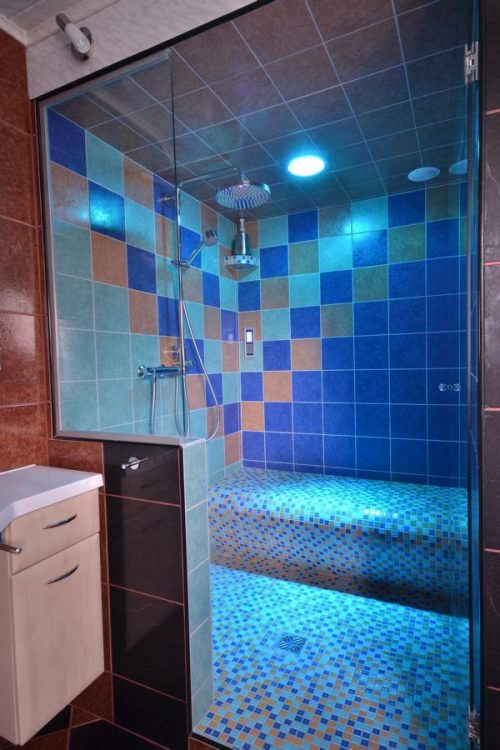 tiled steam shower seat from soleum
