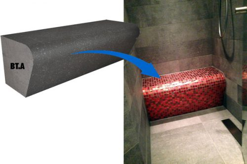 befliesbarer Duschsitz