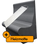 SET-shower bench T60 with heating mat