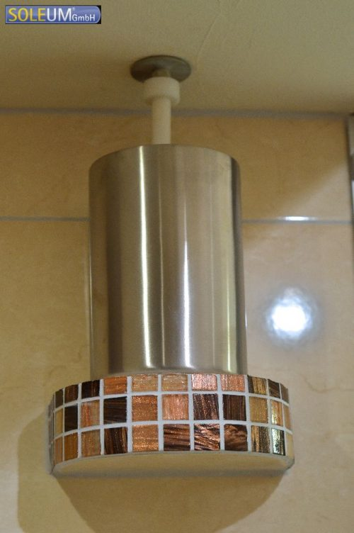 brine atomizing system in steam shower