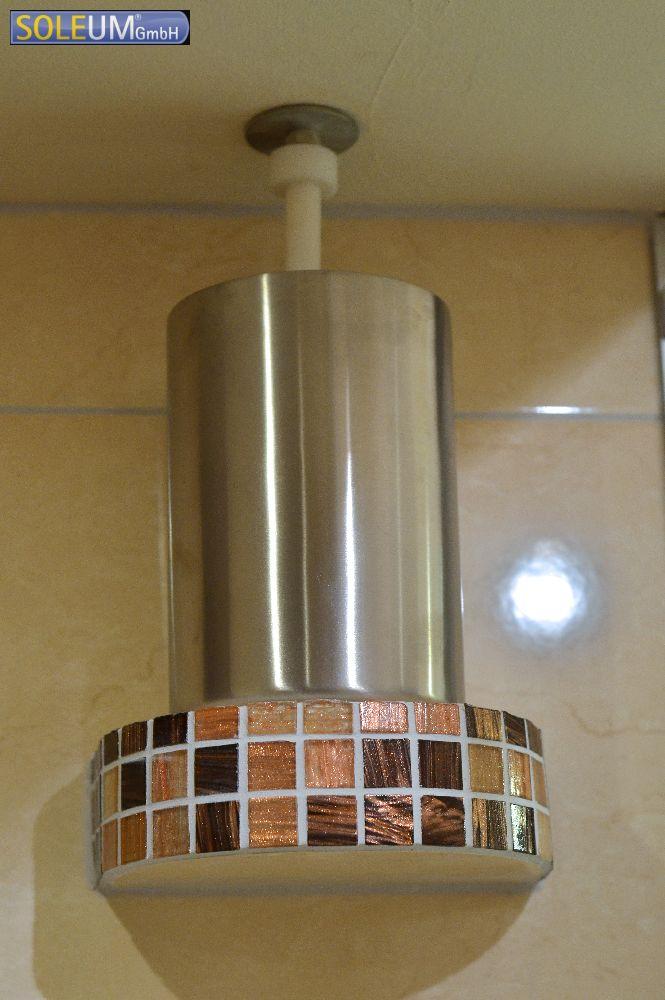 brine atomizing system in steam shower