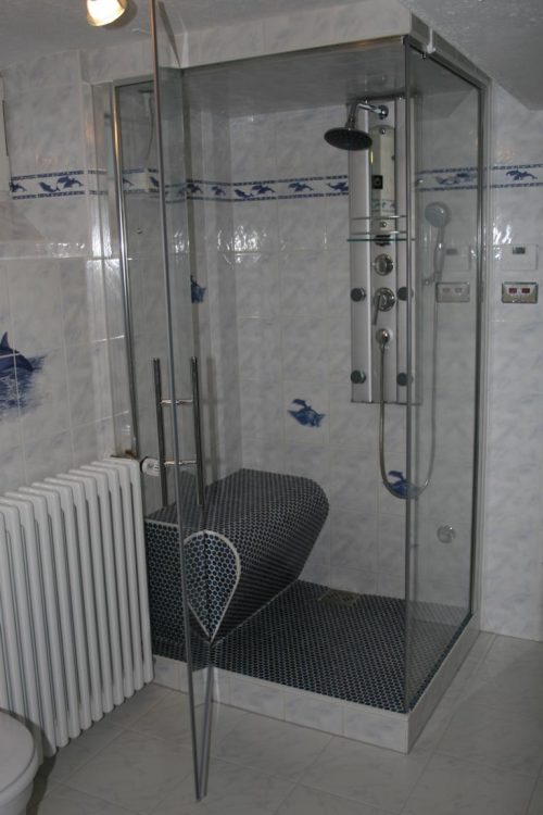 tiled shower seat from soleum