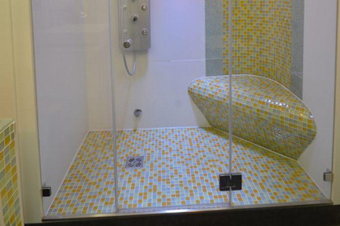 dusche mit ecksitz